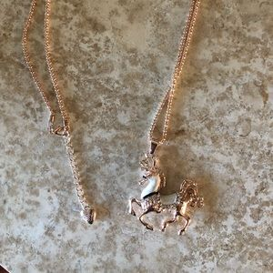 [NWOT] Betsey Johnson White Horse Necklace